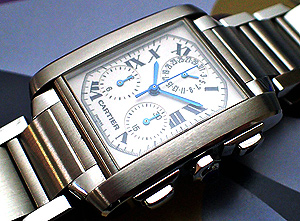 Cartier Tank Francaise Midsize Chronograph Watch Ref. W51001Q3