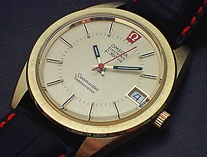 Omega Seamaster Electronic f300 18K Solid Gold Wristwatch Ref 198.001