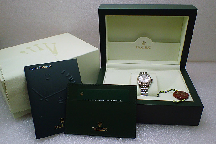Ladies' Rolex Oyster Perpetual Datejust 18K WG/SS Ref. 179174