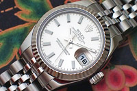 Ladies' Rolex Oyster Perpetual Datejust 18K WG/SS Ref. 179174