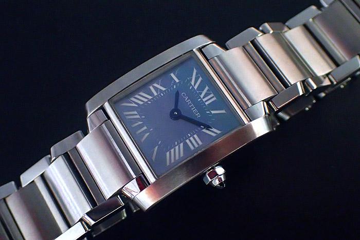 Ladies' Cartier Tank Francaise Blue Shell Ref. W51034Q3