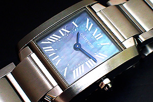 Ladies' Cartier Tank Francaise Blue Shell Ref. W51034Q3