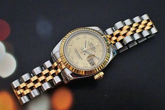 Ladies' Rolex Oyster Datejust 18K YG/SS Wristwatch Ref. 179173