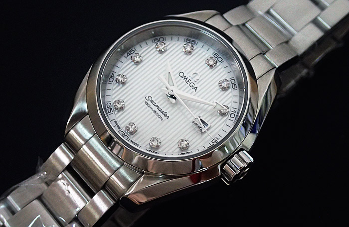 Ladies Omega Seamaster Diamond Face Watch Ref. 231.10.30.61.55.001