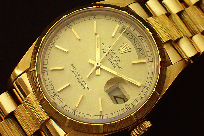 Rolex President Day Date, Bark Finish, Ref 18078