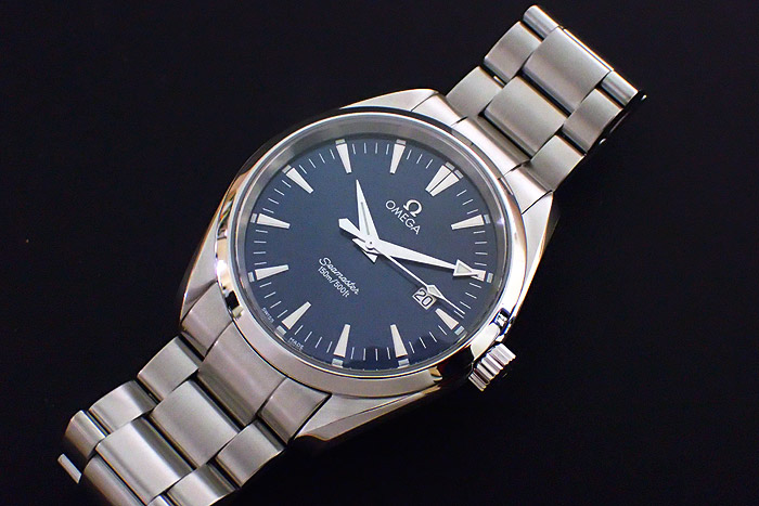 Omega Seamaster Aqua Terra Quartz Blue dial Ref. 2517.80