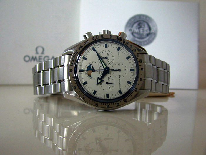 Omega Speedmaster Professional Moonphase White Dial Ref. 3575.20