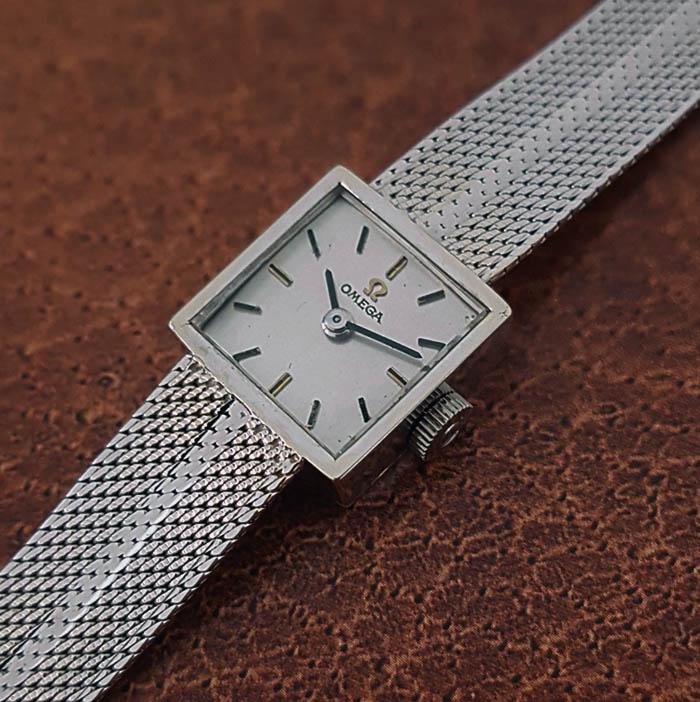 1963 Ladies' Omega 18K White Gold Wristwatch