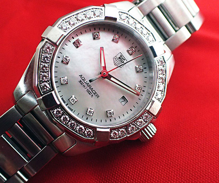 Tag Aquaracer Diamond & Bezel Dial Quartz Ref. WAY1414