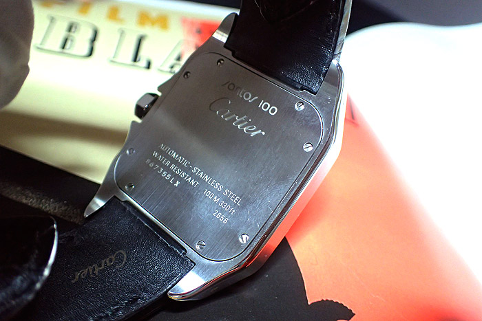 Cartier Santos 100 White Dial Roman Numeral W20073X8