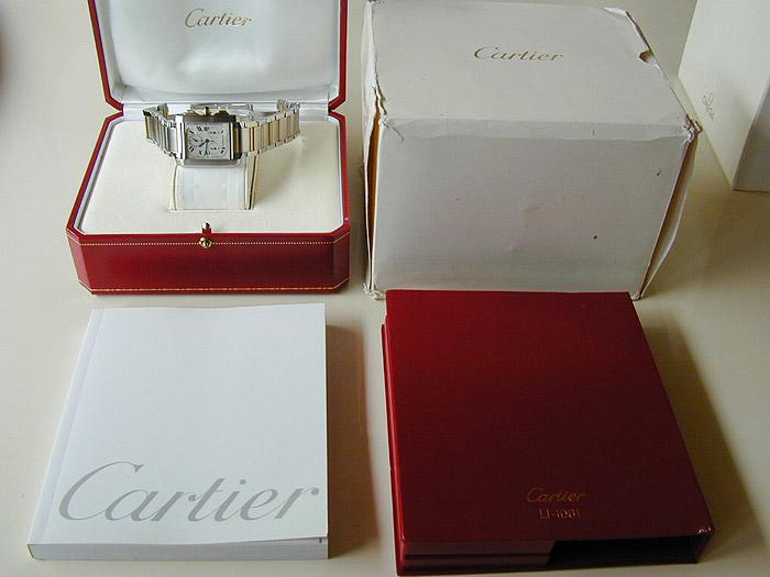 Unisex Cartier Tank Francaise MIDSIZE 18K YG/SS Chronograph Wristwatch Ref. W51004Q4