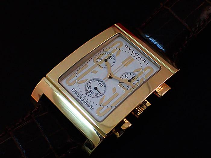 Bulgari Rettangolo RTC 49G 18K Chronograph Quartz
