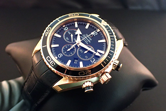 Omega Seamaster Planet Ocean 18K Rose Gold Chronograph