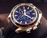 Omega Seamaster Planet Ocean 18K Rose Gold Chronograph
