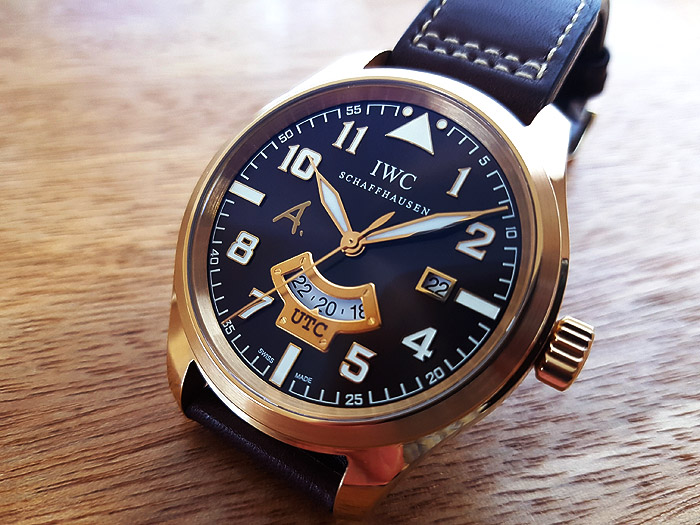 Limited Edition IWC UTC Antoine de Saint Exupery 18K Yellow Gold Ref. IW326103