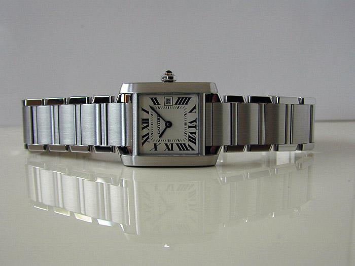 Ladies Cartier Tank Francaise Midsize Quartz Ref. W51011Q3