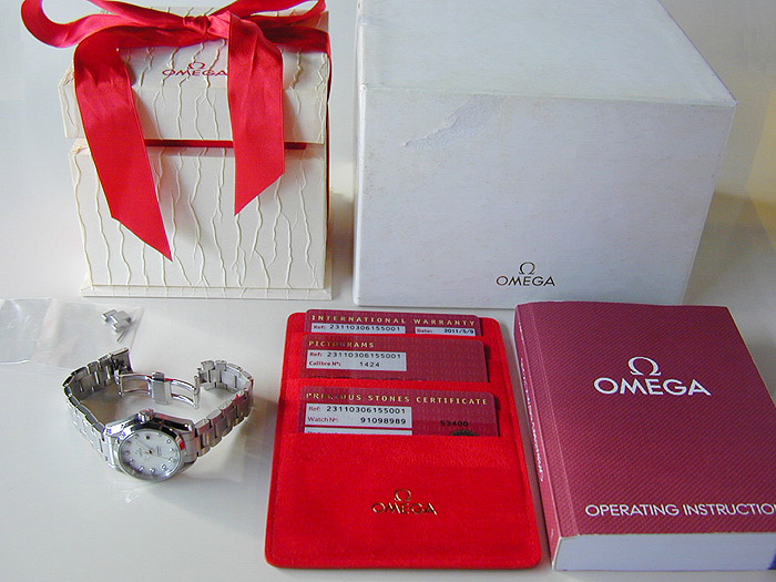 Ladies Omega Seamaster Diamond Dial Quartz Ref. 231.10.30.61.55.001