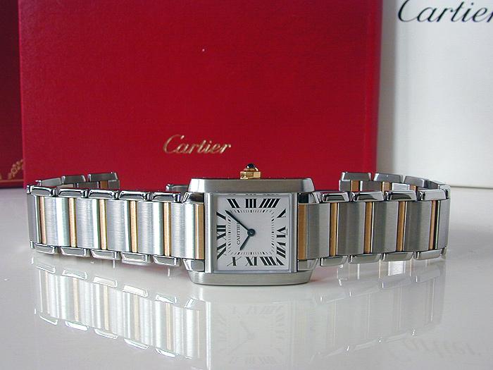 Ladies' Cartier Tank Francaise Midsize Quartz 18K YG/SS Ref. W51006Q4