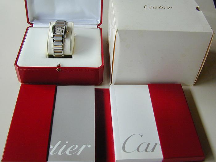 Ladies' Cartier Tank Francaise Midsize 18K YG/SS Quartz Ref. W51012Q4