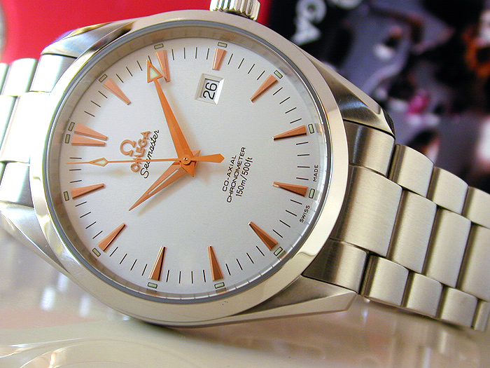 Omega Seamaster Aqua Terra with Rose Gold Markers Ref. 2502.34