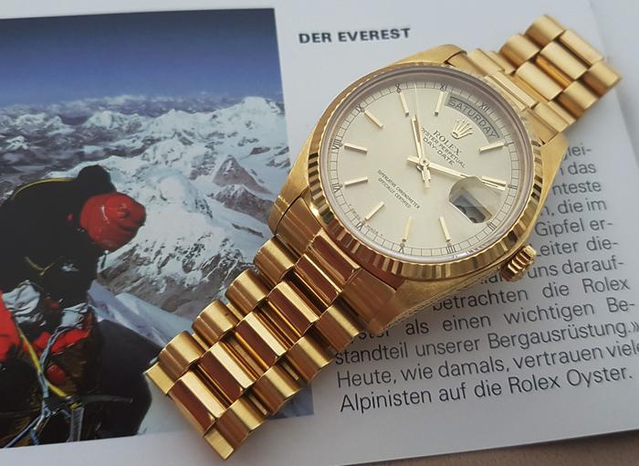 1978 Rolex President Day Date 18k YG Wristwatch Ref. 18038