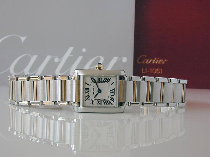 Ladies' Cartier Tank Francaise 18K YG/SS Quartz Ref. W51007Q4