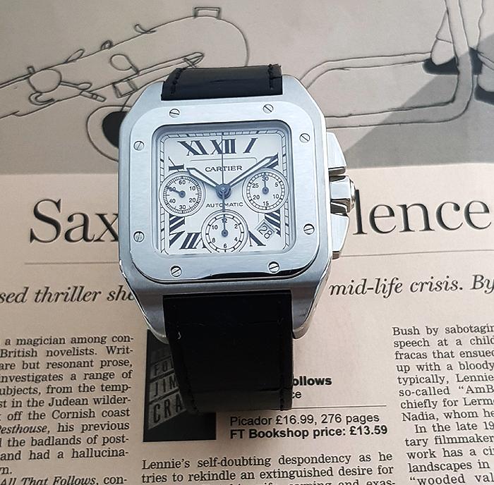 Cartier Santos 100XL Auto Chronograph Steel