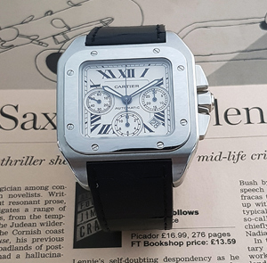 Cartier Santos 100XL Auto Chronograph Steel