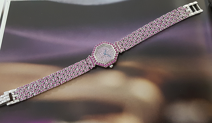 2006 Austern & Paul 18K White Gold Pink Sapphire Ladies' Wristwatch