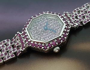 2006 Austern & Paul 18K White Gold Pink Sapphire Ladies' Watch