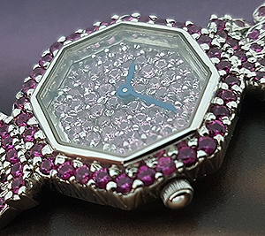 2006 Austern & Paul 18K White Gold Pink Sapphire Ladies' Wristwatch