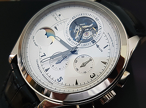 Zenith Grande Class 18K White Gold Tourbillon Moonphase Wristwatch Ref. 65-0520-4034-01-C492