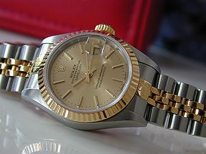 1997 Ladies' Rolex Datejust Champagne Dial Ref. 69173