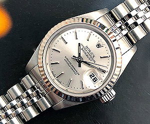 Ladies' Rolex Oyster Datejust 18K WG/SS Ref. 79174