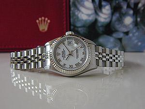 Ladies' Rolex Datejust 18K WG/SS Ref. 69174