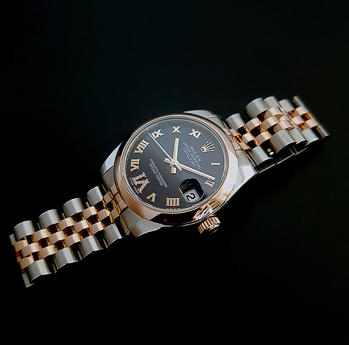 Ladies' Rolex Datejust Midsize RG & SS Wristwatch Ref. 178271