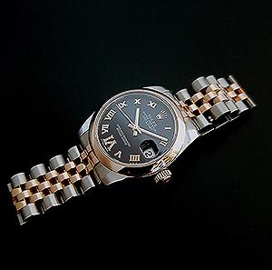 Ladies' Rolex Datejust Midsize RG & SS Wristwatch Ref. 178271