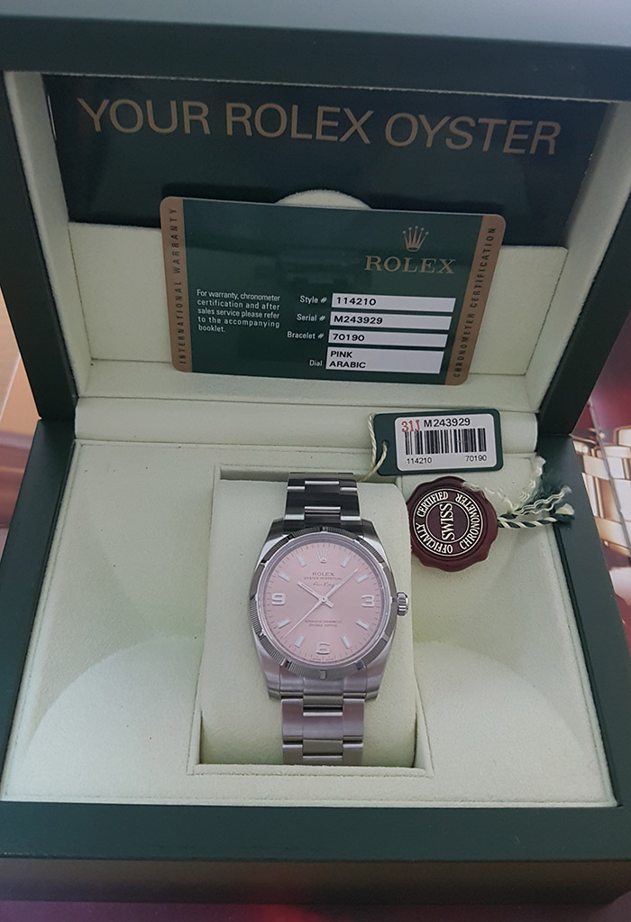 Rolex Oyster Perpetual Air King Wristwatch Ref. 114210