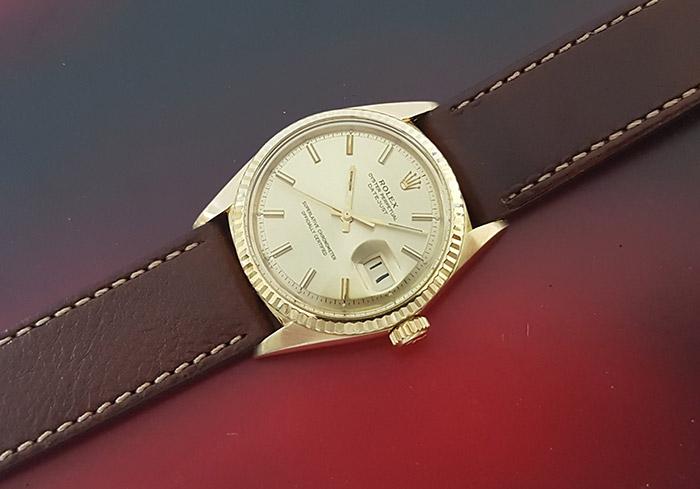 1969 Rolex Oyster Perpetual Datejust 18K Gold Wristwatch Ref. 1601/8