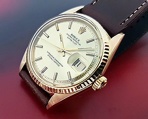 1969 Rolex Oyster Perpetual Datejust 18K Gold Wristwatch Ref. 1601/8