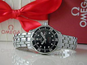 Ladies' Omega Seamaster Diamond Dial Quartz Wristwatch Ref. 212.30.28.61.51.001