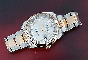 Rolex Oyster Perpetual Datejust 18K RG & SS Wristwatch Ref. 116231