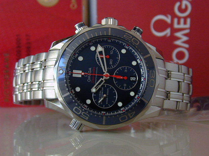 Omega Seamaster Diver 300M Co-Axial Chronograph Wristwatch 44mm Ref. 212.30.44.50.03.001