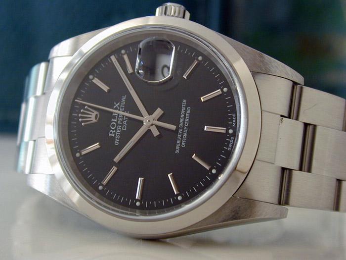Unisex Rolex Oyster Perpetual Date Midsize Wristwatch Ref. 15200