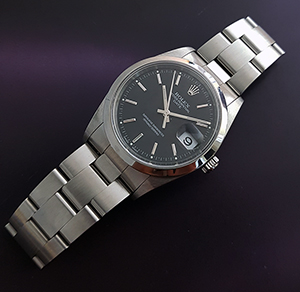 Unisex Rolex Oyster Perpetual Date Midsize Wristwatch Ref. 15200