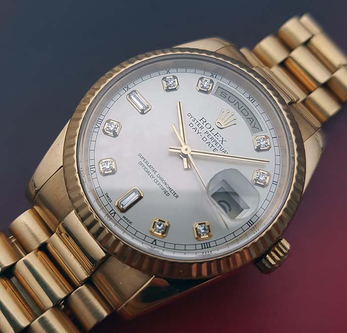 Rolex Day Date 18K Diamond Dial President Ref. 118238