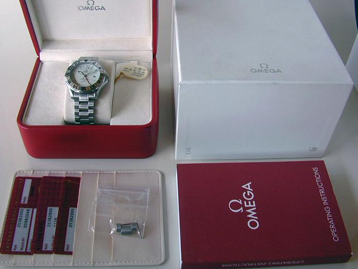 Omega Seamaster 300M GMT White Dial Wristwatch Ref. 2538.20
