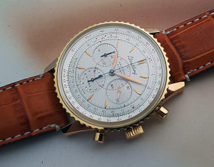 Breitling Navitimer Montbrillant Automatic 18K RG Chronograph Wristwatch Ref. H30030.1
