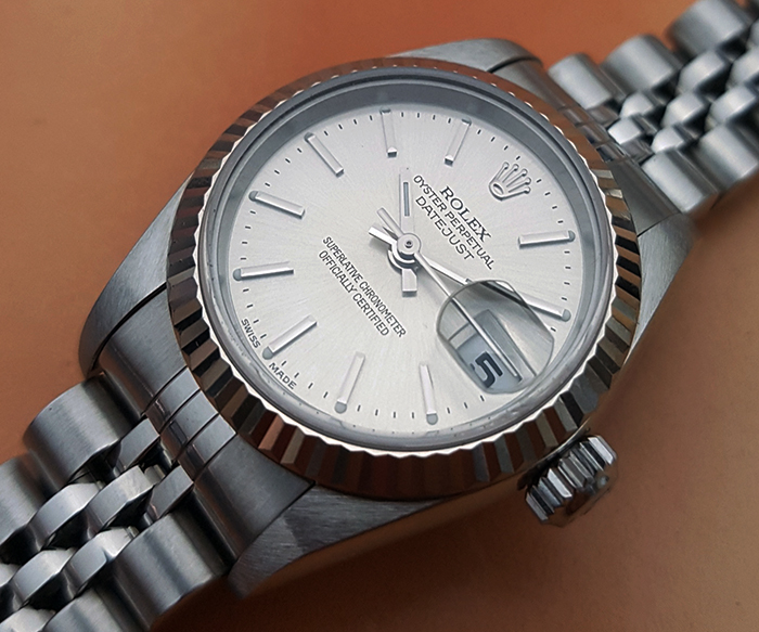 Ladies' Rolex Oyster Datejust 18K WG/SS Wristwatch Ref. 79174