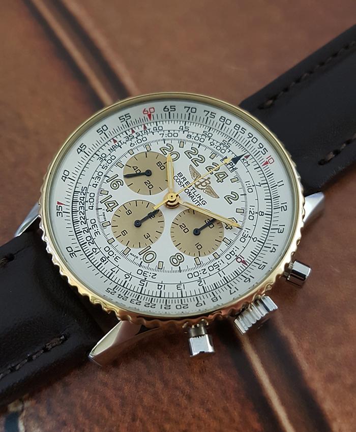 Breitling Navitimer Cosmonaute Wristwatch YG Ref. B12019
